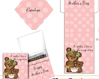 PRINT YOUR OWN A Mom's Love Is Like A Cup Of Tea Card