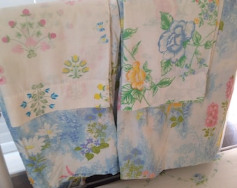 Vintage floral mix and match full size sheet set