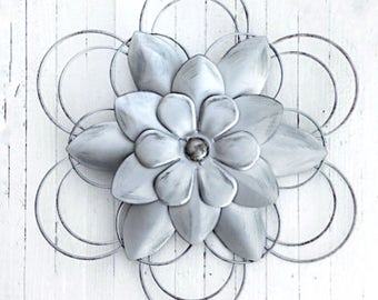 Metal Flowers, Wall Decor