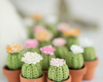 Add-on accessory, cactus in a pot, miniature cactus, crochet cactus