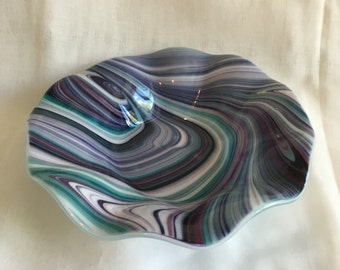 Purple and Teal Dish