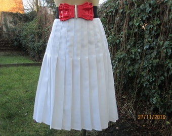 Pleated Skirt / Pleated Skirts / Skirt Vintage / White Pleated Skirt / Accordion Skirt / Pleated Skirt Size EUR44 / UK16