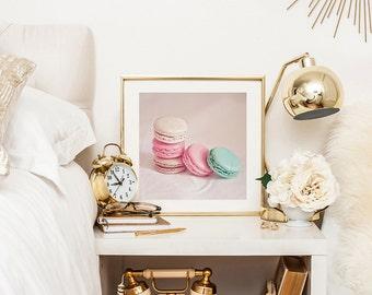 Paris photography print - Food photography - Macaron - Pastel
