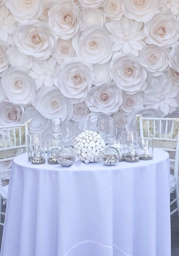 Paper flower wall wedding flower wall paper flower zoom mightylinksfo