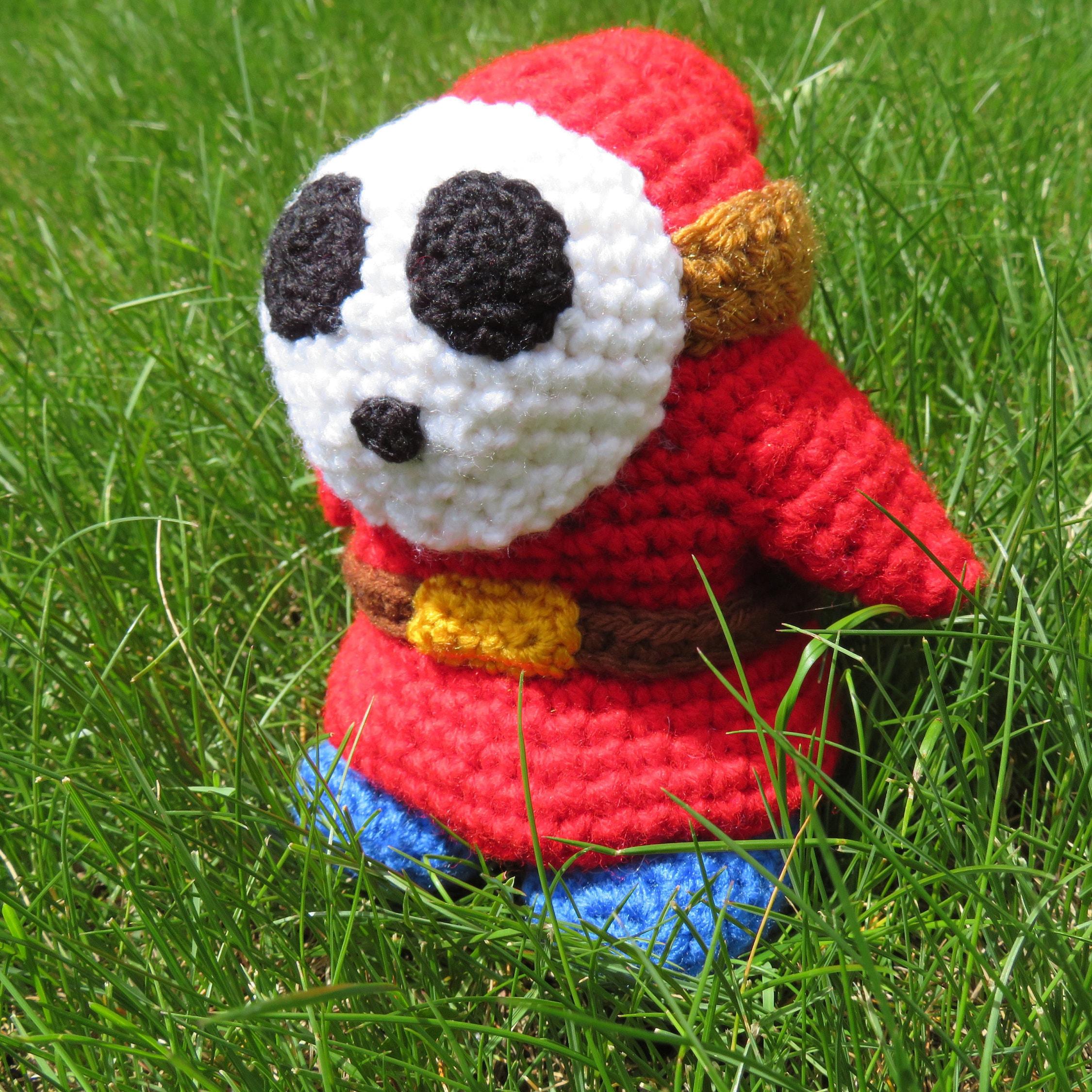 Shy Guy CROCHET PATTERN instructions amigurumi Mario Brothers from ...