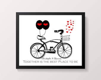 Together is the Best Place to Be, Couples Art Print, Wall Art.