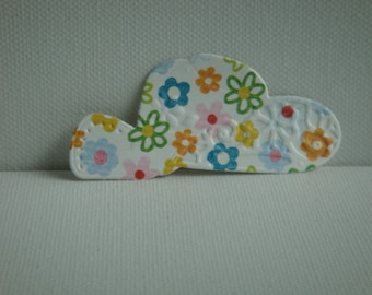 Cut floral paper for scrapbooking and card embossed Hat