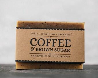 Coffee & Brown Sugar Scrub | Unscented Vegan Soap