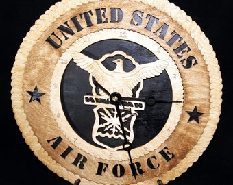 US Air Force Clock 10 Versions available see below