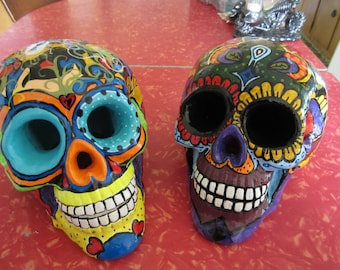 Lighted Day of the Dead Skulls