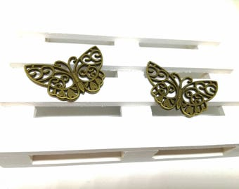 Decorative metal butterflies to create jewels