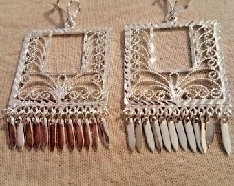 Taxco Mexico Sterling Silver 925 Filigree Earrings