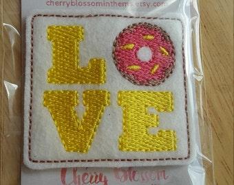 Love Donut Downward Felt Paper Clip
