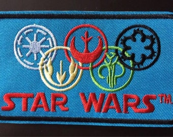 """Star Alliances Iron on Embroidered patch (L=2.75"""" W=4.75"""")"""