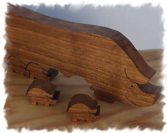 Wood piglets