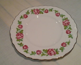 Royal Vale Cake Serving Plate in rose pattern