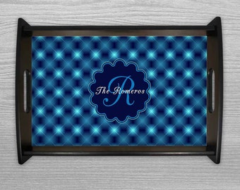 Serving Tray, Monogram Tray, Wedding Gift, Christmas platters, Housewarming Gift, Personalized Tray, Gifts, Cheese Tray, Breakfast in Bed
