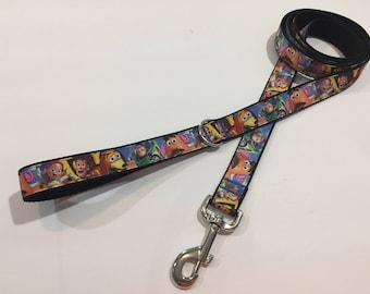 5 Foot Dog or Pet Leash - Toy Story with Buzz Lightyear, Woody, Jesse, Slink
