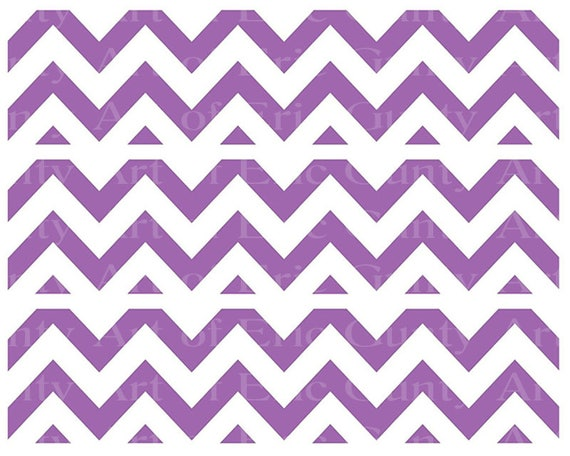 Purple Chevron Birthday - Designer Strips - Edible Cake Side Toppers- Decorate The Sides of Your Cake! - D22890