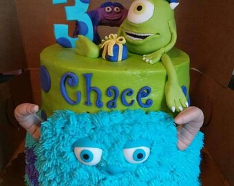 Monsters inc cake Etsy