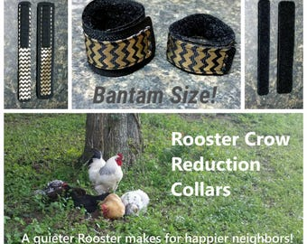 1 set BANTAM Rooster Crow Reduction Collars