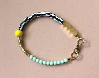 Hexagon Bracelet - Mint Green