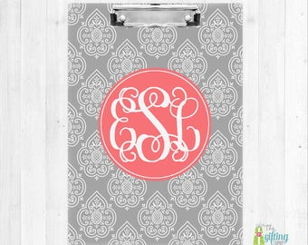 Monogrammed Clipboard, Teacher Clipboard, Monogram School Supplies, Office Accessories, Student Clipboard, Teacher Gift, Morrocan Design
