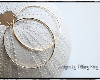 Hoop earrings, gold fill hoops, earrings, 14 kt gold fill,  handcrafted, Tiffany King