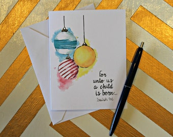 Christmas Watercolor Notecards