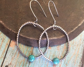 courage & strength.  turquoise melody earrings