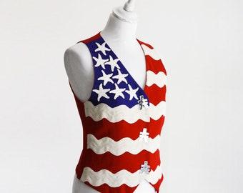 MOSCHINO 'Stars & Stripes' Cheap and Chic Waistcoat Vest Gilet