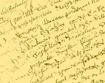 French Script, Lemon Yellow