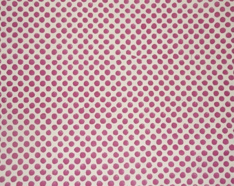 Red Voilet Fabric, Indigo Polka Dot Fabric, Printed Cotton Fabric, Block Print Fabric, Indian Cotton Fabric by the yard, Block Print Fabric