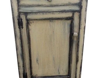 Microwave Stand Kitchen Cabinet Primitive Cupboard Reproduction Furniture