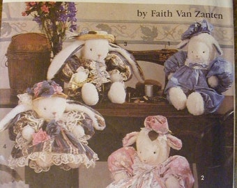 """51% OFF 45"""" Bunny / Lamb Dolls and Clothes by Faith Van Zanten Uncut Simplicity Craft Sewing Pattern 7713"""