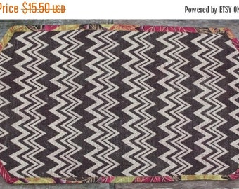 1/2 PRICE 12 x 25 Burlap Table Runner Centerpiece Chevron Reversible