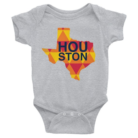Houston Astros World Series Infant Bodysuit Baby One-piece Gift for Girl or Boy Game Day Snapsuit Outfit