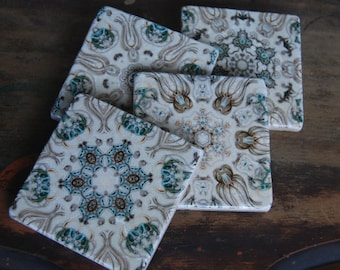 Sea Life stone coasters- as seen in Country Living magazine