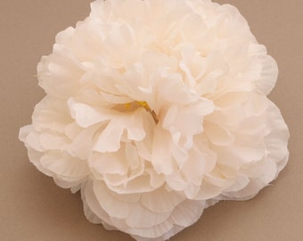 Jumbo Vanilla Cream Peony - Artificial Silk Flower - Flower Head - PRE-ORDER