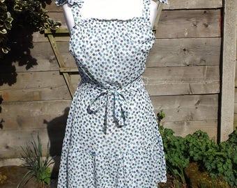 Vintage Polka Dot Summer Dress - Size 10
