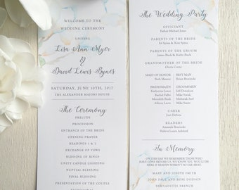 Wedding Programs   ceremony program     Double sided programs - Style 04 - Garden Flower COLLECTION