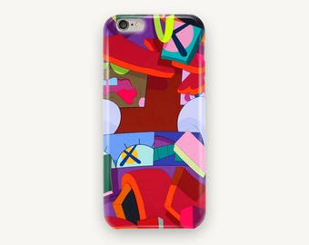 Kaws Pattern Phone Case for iPhone 5S, iPhone 6S Plus, iPhone 7, iPhone 7 Plus, iPhone 8 Plus, Samsung Galaxy S8, Samsung Galaxy S7