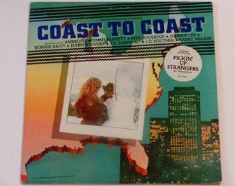 Coast to Coast - Soundtrack Music - Bonnie Raitt - Johnny Rivers - Jimmy Buffett - Full Moon Promo Copy 1980 - Vintage Vinyl LP Record Album