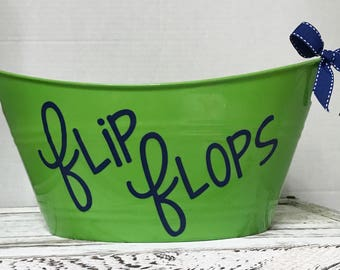 Flip flop storage / organization tub / bucket