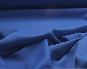 Fabric polyester black out china blue soft flowing