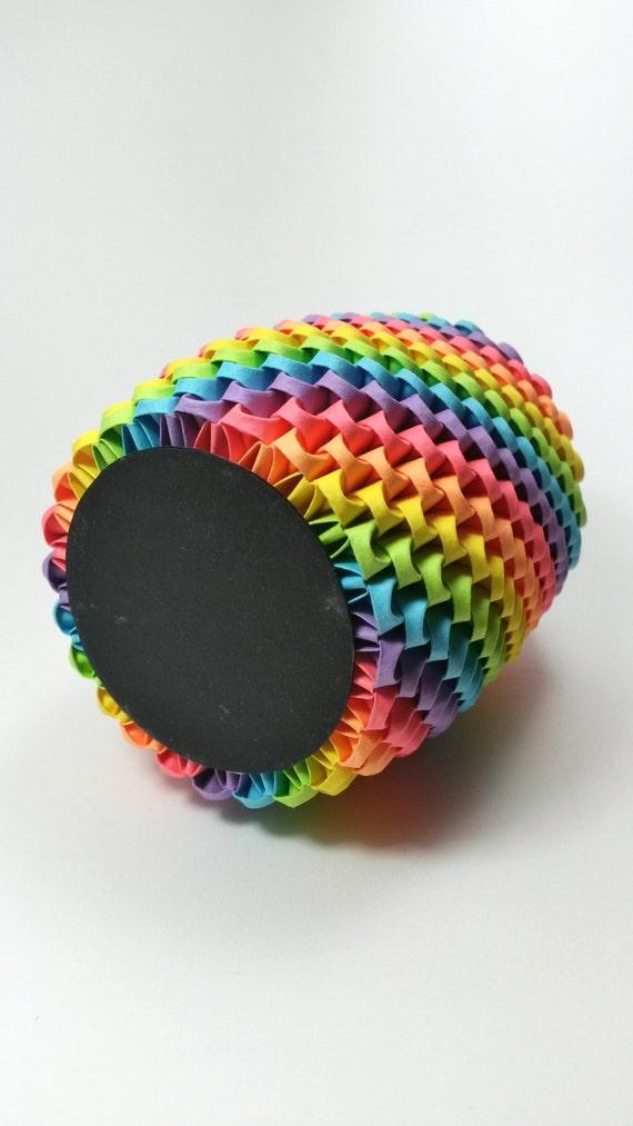 Rainbow 3d Origami Pencil Holder Pen Holder Modular
