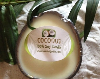 Coconut Soy Candle in Coconut Shell
