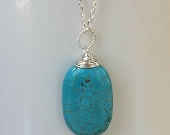 Magnesite Stone Pendant Necklace