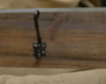 Wooden Panel with 3 Sturdy Coat Hooks