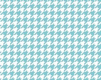 Fabric by the yard - Modern fabric - Riley Blake Fabric - Houndstooth Fabric - Aqua Fabric - Quilt Fabric